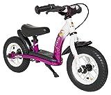 BIKESTAR Kinder Laufrad Lauflernrad Kinderrad für Mädchen ab 2-3 Jahre | 10 Zoll Classic Kinderlaufrad | Berry & Weiß