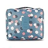 Bolsa de equipaje organizador cubo de viaje embalaje de maquillaje bolsa estuche para artículo de tocador y cosmética (Azul)