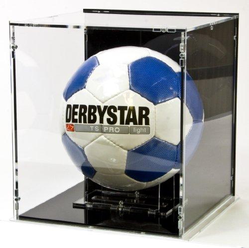 Vitrine de football, avec base noir et panneau d'arrière noir