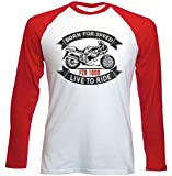 Teesandengines Men's YAMAHA FZR 1000 Red Long Sleeved T-shirt Size Small