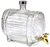 Weinfass mit Zapfhahn Whiskyfass Schnapsfass Whiskyflasche Fass Glas 1,5 L