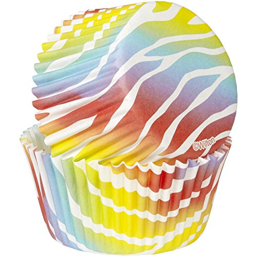 Wilton, colore: arcobaleno zebrato Baking Cases