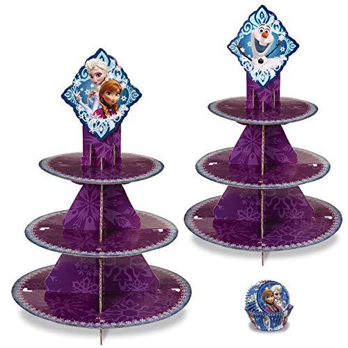 Wilton Disney Frozen Leckerliständer und Cupcake-Auskleidung, 3-teilig