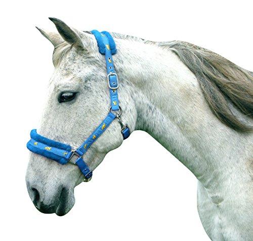 Headcollar Sparkly Furry Fluffy Pretty Horse Pony Head collar (Small Pony, Brown/Biege) 2
