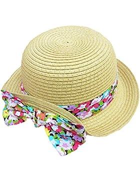 Paglia Cappelli a Tesa Larga Bimba Bambino Colore Bowknot Cappellino Cappelli da Sole