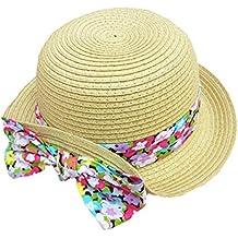 Sombrero Pescador Paja Bebé Niñas Colorido Bowknot Pamelas Viaje Gorro Sombrero Verano