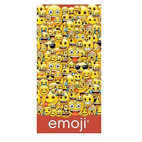 Emoji 2200002249–140cm x 70cm de bain et serviette de plage