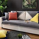 Liveinu Fleece Plüsch Warm Matte mit Anti-Rutsch Mehrfachnutzung Sofaüberwurf Sesselschutz Spielmatte Japanischer Tatami Teppich Für Fußboden Sofa und Bett 90x180cm Grau