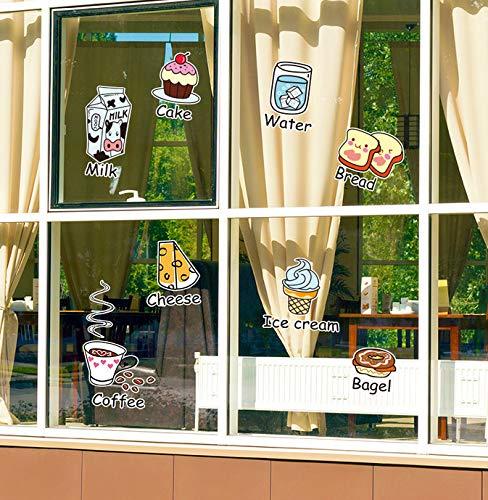 (Wiwhy Küche Aufkleber Diy Essen Wandtattoos Für Glasfenster Fliesen Kühlschrank Dekoration Tropfen Lieferbar)