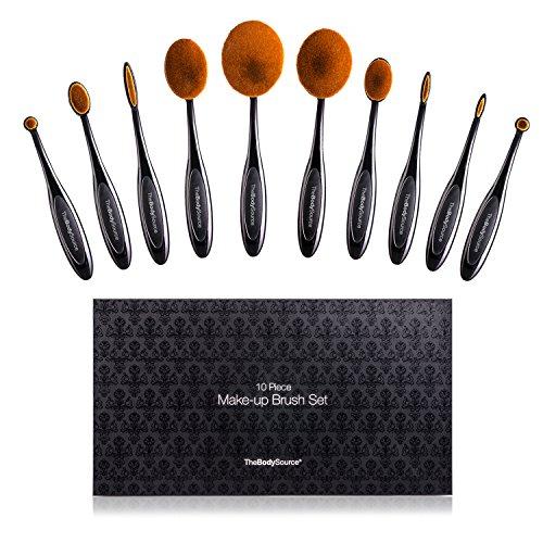 Set di10 pennelli professionali da make up- Con pennelli per contouring, fondotinta, correttore, labbra, eyeliner e blush