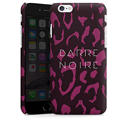 Apple iPhone X Silikon Hülle Case Schutzhülle BARRE NOIRE Fashion Leopard Premium Case matt