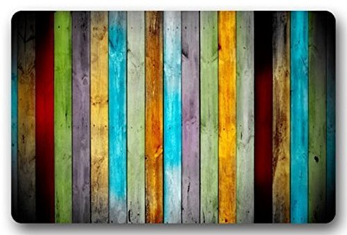 Rustikale Badezimmer-dekor-teppich (Goodbath Bad-Teppiche und Matten, gestreiftes Muster, rutschfest, saugfähig, für Badezimmer oder Küche, Color Stripes, 20 x 31 Inch)