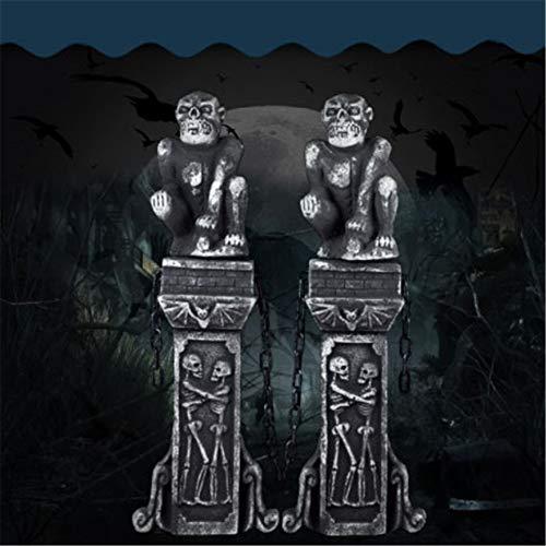 Halloween Friedhof Zaun - Halloween Horror Requisiten 2 Pack