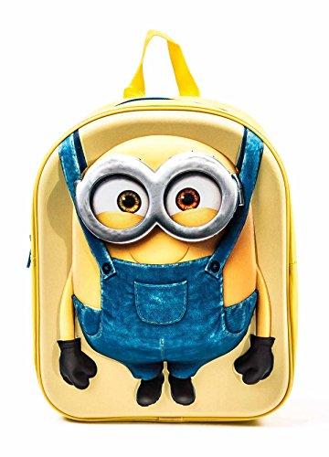 Kinderrucksack mit 3D-Front, Stoßkanten aus Kunststoff, 1 Fach, Höhe 30 cm, Design ©Disney Frozen, ©Disney Pixar Cars, Minions oder PAW Patrol (Minions)