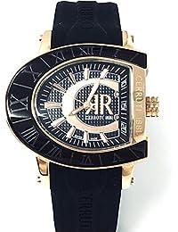 Cerruti 1881Diamond crwe001d224u Hombres Reloj 42x 40mm Dial, correa de caucho de color negro, fabricado en Suiza, oro rosa tono