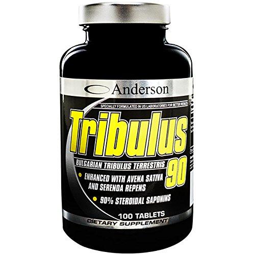 Integratore Anderson Tribulus 90 (100cpr) Crescita muscolare - Perdita dei capelli azione anti caduta - contro il diradamento dei capelli - libido - disfunzione erettile