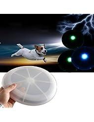 PhilMat Sports de plein air LED allument voler des jouets pour chiens disque frisbee plage camping amusant