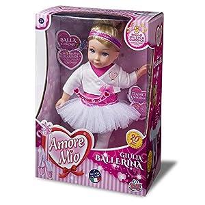 Grandi Giochi - GG71153, Nueva Julia, Bailarina Amore Mio, Color Rosa y Blanco