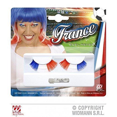 Frankreich Kostüm Weiblich (Künstliche / Falsche Wimpern Frankreich inklusive Klebstoff / Fanartikel /)