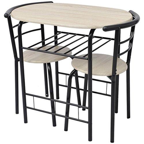vidaXL Ensemble de meuble pour salle à manger cuisine MDF Table tabouret de bar