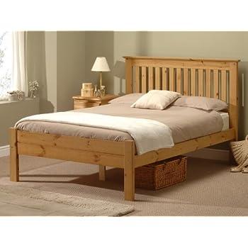 snuggle beds alder antique 4ft6 double bed frame antique wax - Pine Bed Frame