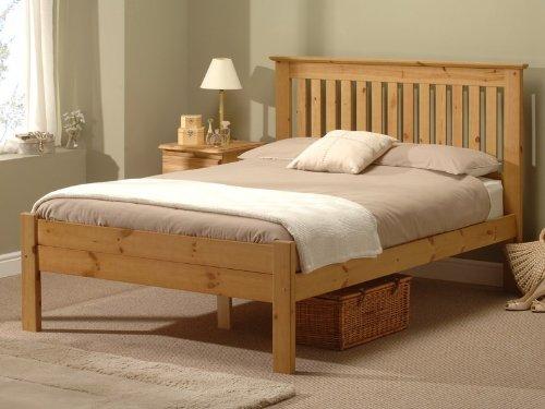 Snuggle Beds Alder Antique 5FT Kingsize Bed Frame Antique Wax