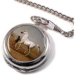 Wellington's Grey Horse by Agasse Full Hunter Pocket Watch