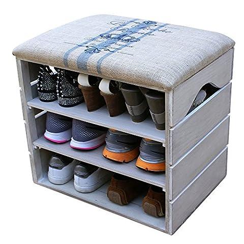 SHOE RACK - Premium Vintage Wooden Shoes, footwear, Organiser, Storage,