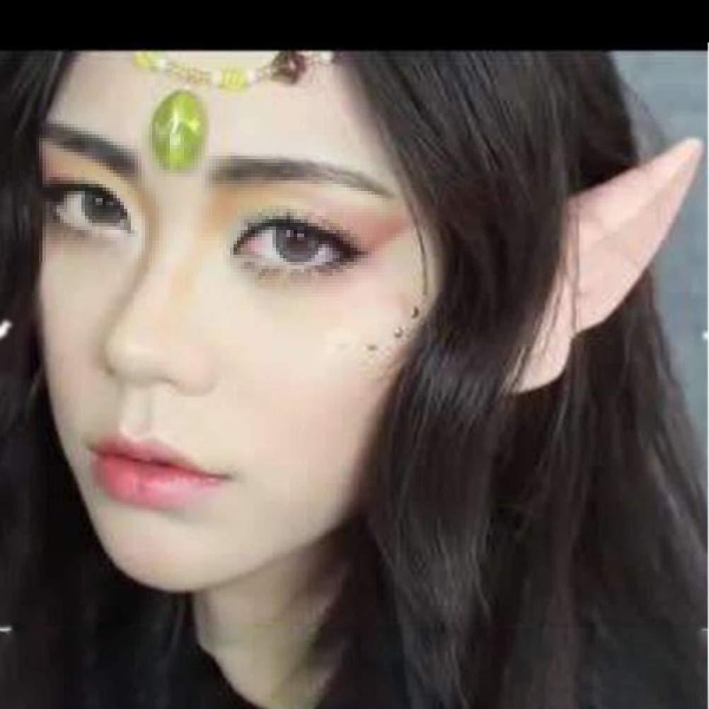 NUOBESTY 4 Paar Elf Ohren Kostüm Fee Pixie Elf Ohren für Halloween Party Favors Requisiten Dress Up Kostüm Maskerade