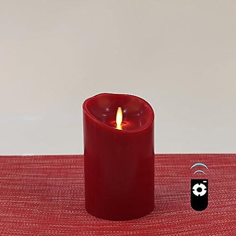 Bougie à Led avec Effet Flamme Réelle, 9 x 14cm, HueLiv Bougie Pilier Cire de (Food Grade Cera)