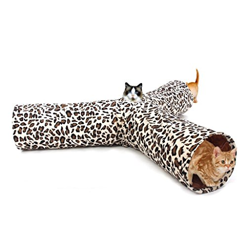*Pawz Road Luxus Katzentunnel im Leoparden-Design, 55*25 cm*