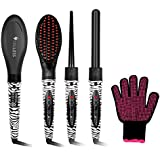 Truless Professional 3 In 1 Ceramic Tourmaline Ionic Hair Styling Salon Set With 2 Interchangeable Curling Wand...