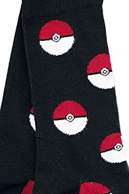 Pokemon Pokeballs Calcetines Negro/Rojo/blanco de Pokemon