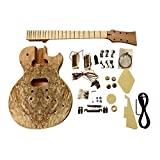 GDLP710MS DIY electric guitar kits, style Solid Mahogany body with Spalted Maple Veneer