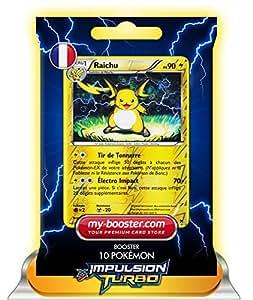 RAICHU holo reverse 49/162 90PV XY08 IMPULSION TURBO - Booster de 10 cartes Pokemon francaises my-booster