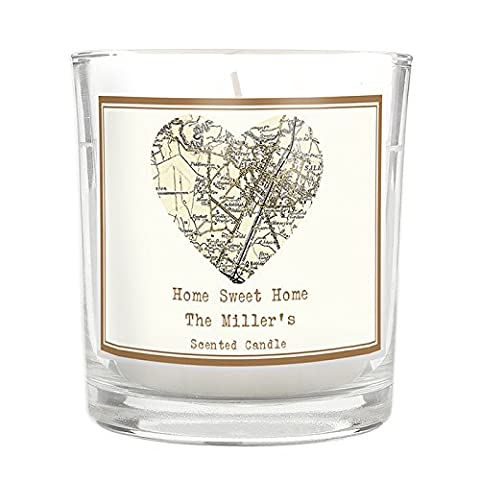Personalised 1896-1904 Revised New Map Scented Jar Candle