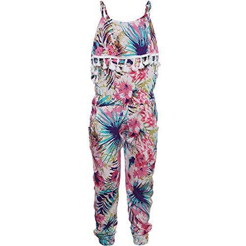 Girl Harem Kostüm - Smile Girl Kinder Jumpsuit Einteiler Overall Onesie Jogger Ärmellos Mädchen Body 21785 Rosa 104