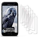 moex 5X Samsung Galaxy A5 (2017) | Schutzfolie Klar Display Schutz [Crystal-Clear] Screen Protector Bildschirm Handy-Folie Dünn Displayschutz-Folie für Samsung Galaxy A5 2017 Displayfolie