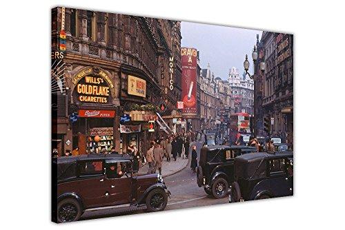CANVAS IT UP Vintage 1950er London Fotos Leinwand Bilder Wand Kunst City Druck Dekoration Kunstwerke Größe: 101,6x 76,2cm (101x 76cm) (Foto Wand Bild Dekor Kunst)