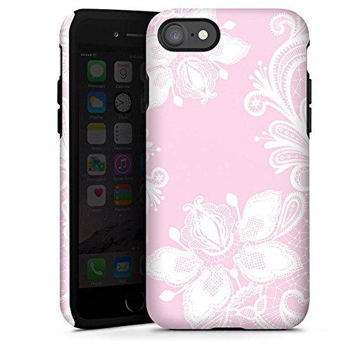 Apple iPhone 5c Silikon Hülle Case Schutzhülle Blumen Spitze Muster Tough Case glänzend