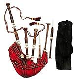 Cornemuse écossaise Great Highland Ivoire pour Cornemuse/console en bois Ivoire Supports/Cornemuse Reed, cas
