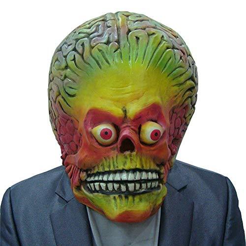 TBGGFSD Halloween-Zimmer Spukhaus, Gruselmonster, bunt, Mars Kopf-Set, Biochemie, Zombie Alien Teufel Geister Maske