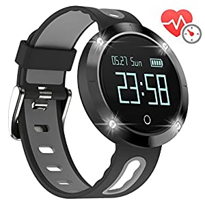 arVin Heart Rate Watch, 3-Axis Sensors Fitness Tracker Sports Bracelet Smart Watch Activity Health Tracker with Heart Rate & Blood Pressure & Sleep Monitor Bluetooth Pedometer (Black)