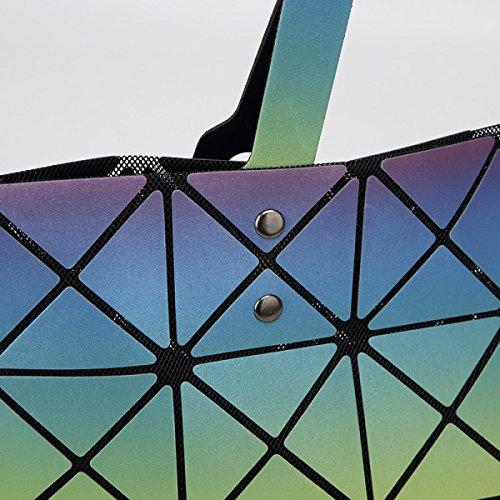 Frauen-Schulter-Beutel-Hand Falttasche Geometry OneColor