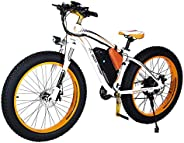 Aest Top 012 Fat E Bike - White Orange (26 Inch)