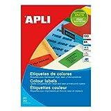 APLI 11836 Rojo 2400pieza(s) - Etiqueta autoadhesiva (Rojo, 70 mm, 37 mm, 2400 pieza(s), 100 hojas)