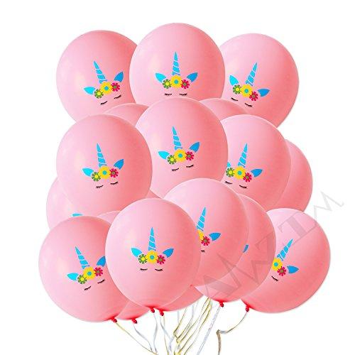 AMZTM 30 Stück Einhorn Rosa Luftballons Regenbogen Einhorn-Themenparty Begünstigt Dekorationen für Nette Fantasie-feenhafte Mädchen Baby Dusche Geburtstags-Party-Hochzeits-Versorgungsmaterialien (12 Zoll) (Süße Baby-dusche-ideen)