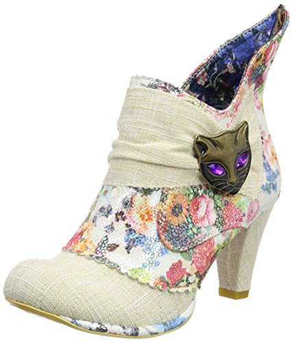 Irregular Choice - Miaow, Scarpe col tacco Donna Off-White (Cream Multi)