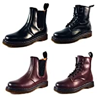Starex Ladies 8 Eyelet and Chelsea Boots Faux Leather