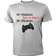 Mister Merchandise T-Shirt My Mission: Save the World Gamer Gamepad - Camiseta para Hombre S-XXL - Muchos Colores